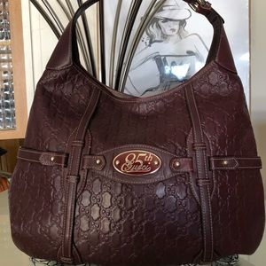 GUCCI 85th Anniversary Burgundy Hobo Bag RARE !!